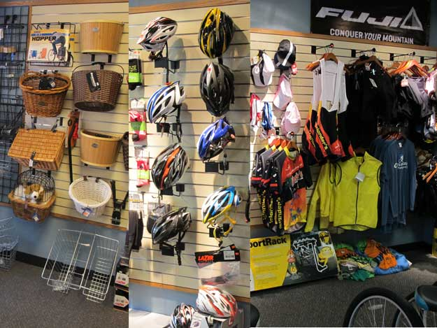Cycling accessories at Cyclopedia Bike Shop Pawleys Island SC