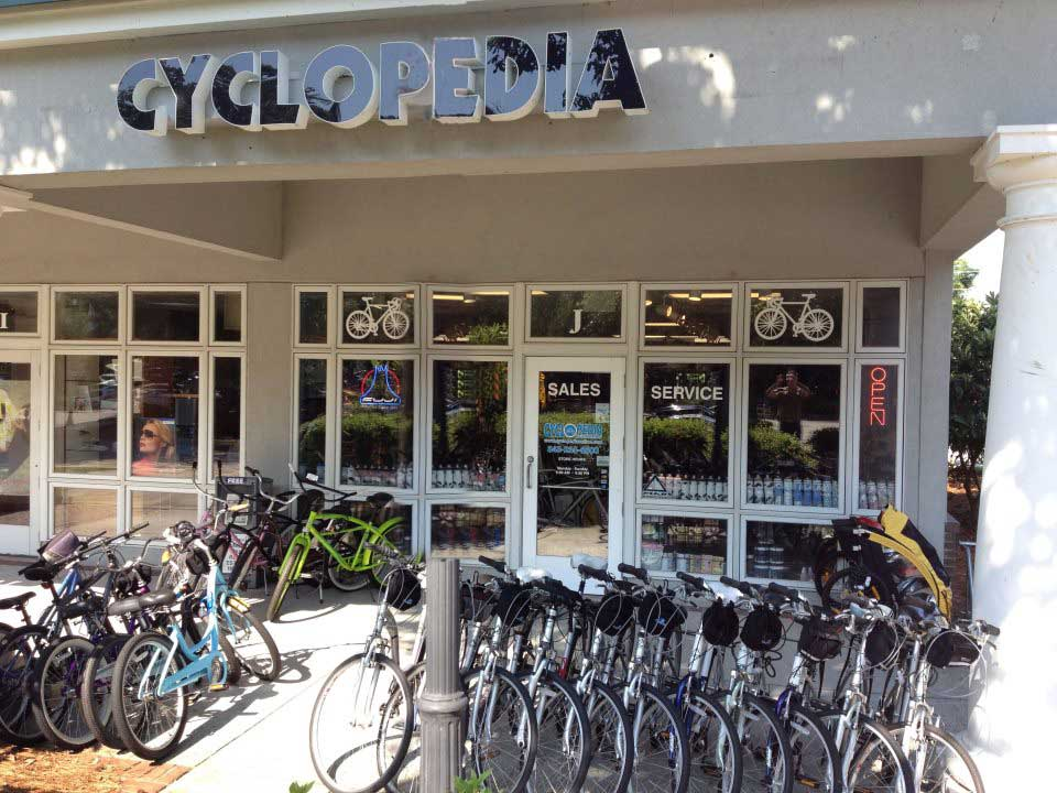 Store Front of Cyclopedia Bike Shop in Pawleys Island SC